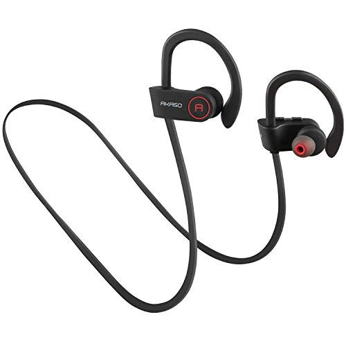 AKASO A1 Bluetooth Headphones, Sports Wireless Headphones w/ Mic, 8 Hour Battery Noise Cancelling Sweatproof Headset