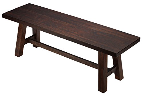 Cortesi Home Figi Dining Bench, Rustic Wood For Sale