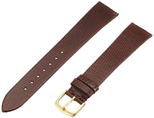 Hadley-Roma Men's MSM700LB-200 20-mm Long Brown Genuine Lizard Leather Watch Strap Brown Genuine Lizard Strap