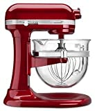 : KitchenAid KSM6521XCA Professional 6500 Design Series Candy Apple Red Bowl-Lift Stand Mixer with 6 Quart Glass Bowl