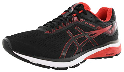 ASICS New Men's GT-1000 7 Running Shoe Black/Red Alert 10