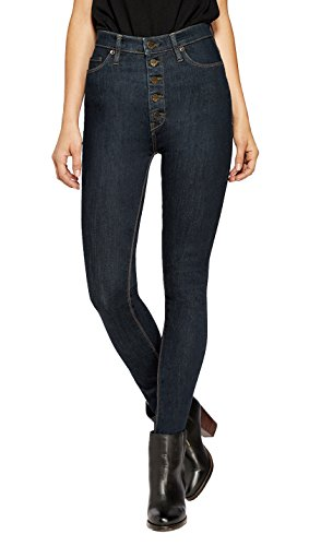 HyBrid & Company Womens Super Stretch 5 Button Hi-Waist Skinny Jeans Indigo 14