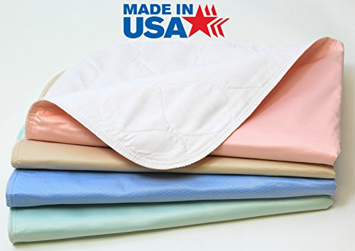 Washable Puppy Pads - Pack of 4 - Reusable / Washable Large Dog / Puppy Training Travel Pee Pads - Size 24 x 36