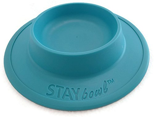 Tip Bowl (STAYbowl NO-SLIP/NO-TIP Pet Food and Water Bowl for CATS (3/4 CUP SIZE) - Available in Four Colors (Sky Blue))