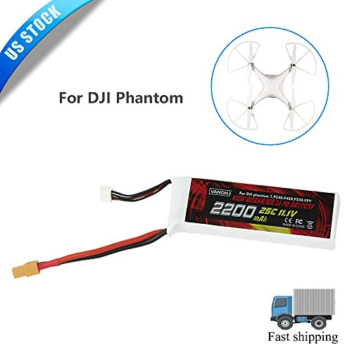 VANON 2200mAh 25C Replacement Battery with connector for DJI