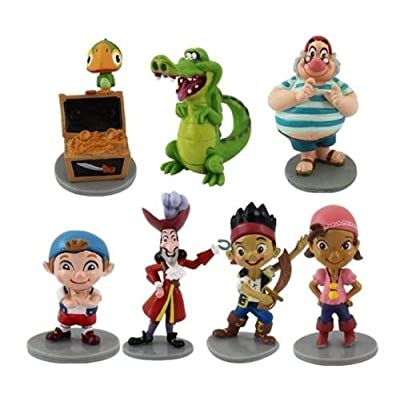 NEW Jake & Neverland Pirates Playset 7 Figure Cake Topper * USA SELLER* BY NANSY: Toys & Games