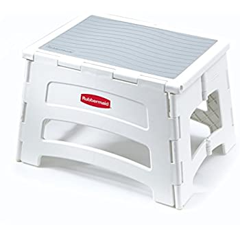 Rubbermaid RM-PL1W Folding 1-Step Plastic Stool  sc 1 st  Amazon.com : plastic stool - islam-shia.org