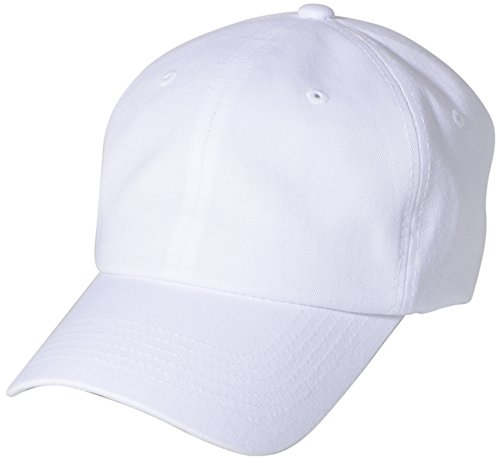 BRAND NEW 2016 Classic Plain Baseball Cap Unisex Cotton Hat For Men & Women Adjustable & Unstructured For Max Comfort Low Profile Polo Style  Unique & Timeless Clothing Accessories By Top Level, White, One Size