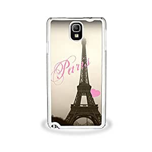 Love Eiffel Tower - Samsung Galaxy Note 3, Cell Phone Cover - White Case