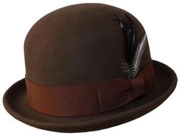 1a20bd4209d72 Man Classic 100 % Wool Felt Crushable Soft Winter Derby Vintage Bowler  Cloche Cute Cap Shape
