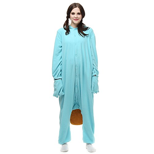 Phineas And Ferb Costumes For Kids (VU ROUL Cute Pajamas Perry The Platypus Onesie Halloween Costume Pyjamas XL)