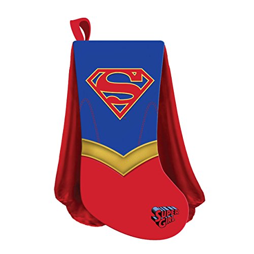 Kurt Adler 19 Inch Supergirl Shield With Cape Christmas (Girls Christmas Stocking)