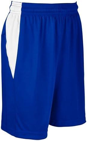 ChamproブロックBasketball Short – Women 's ロイヤル/ホワイト XL