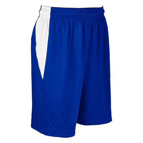 ChamproブロックBasketball Short – Women 's B076H9Q622 ロイヤル/ホワイト XL