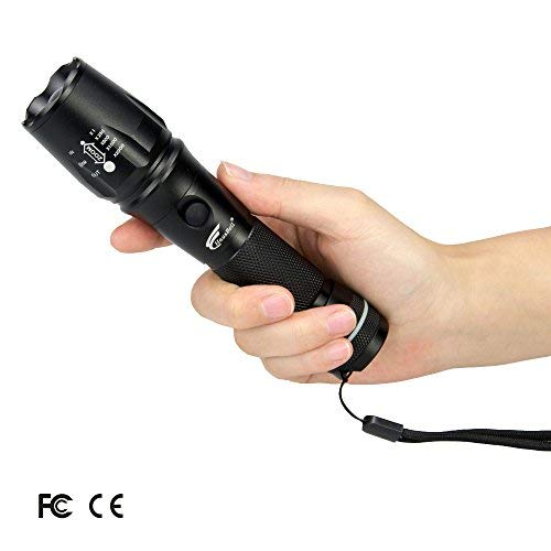 Flashlight, Hausbell T6-D 1000LM LED Flashlight for Camping,Patented product, 2 YEAR warranty!