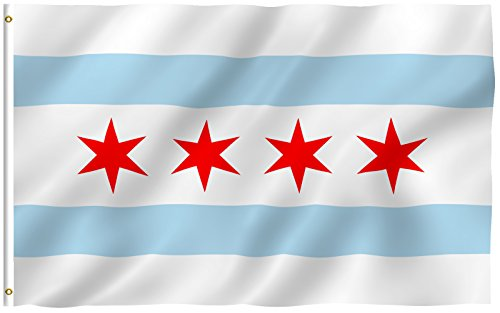 City of Chicago 3'x5' Polyester Flag 3x5