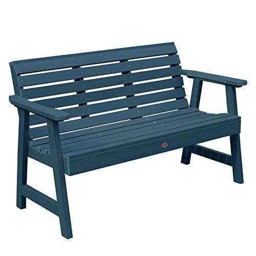 highwood Weatherly Garden Bench, 4 Feet, Nantucket Blue