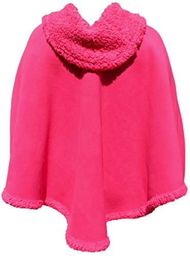 - Trade MX Unisex Polar Fleece Pullover Poncho Sweater Cape One Size (Assorted Colors) (Pink)