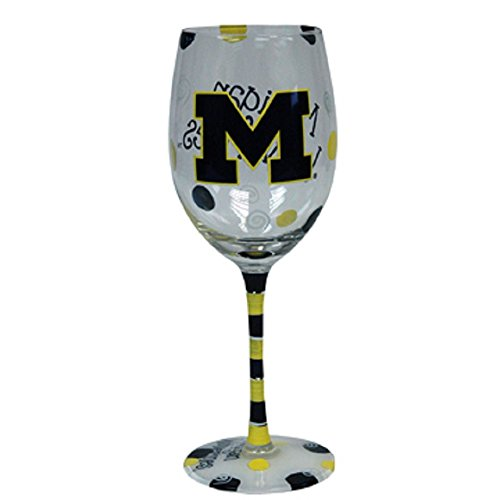 Michigan Wolverines Yellow Painted Glass product image