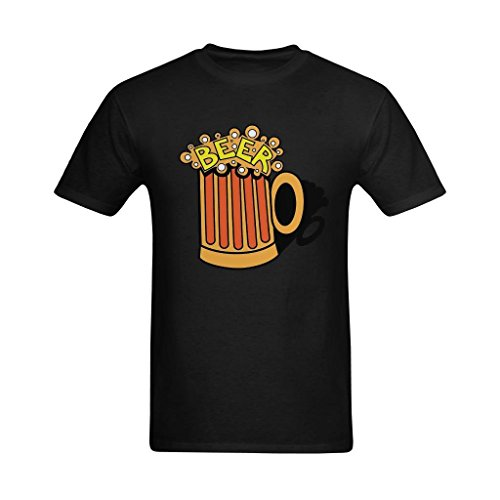 Fashion-In Men's Free Beer Clipart Painting Design T-Shirt - Cool Style T Shirts US Size 2XL ()