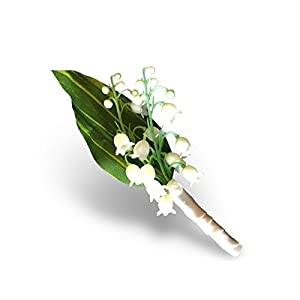 Boutonniere - Lily of the Valley Prom Wedding Artificial Flower - Angel Isabella 86