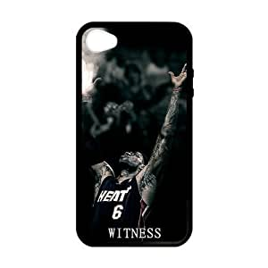 RAROFU Durable James LeBron Custom Case for iPhone 4,4S (Laser Technology)