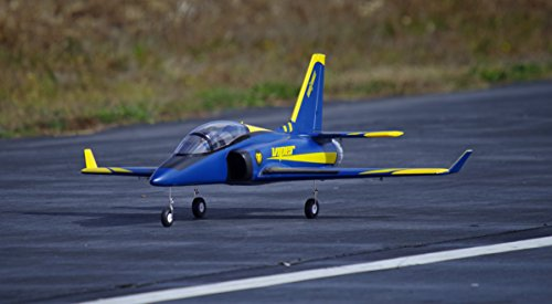 RocHobby 70mm Ducted Fan EDF Super Viper Navy Blue Trainer RC Airplane Jet 6S PNP (no radio, battery, charger)