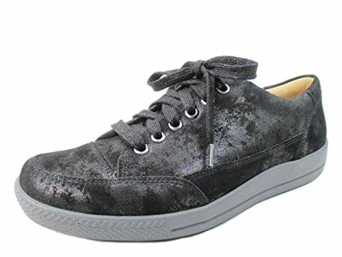 Ganter Femme de à Chaussures Noir Ville pour Lacets rFYrq
