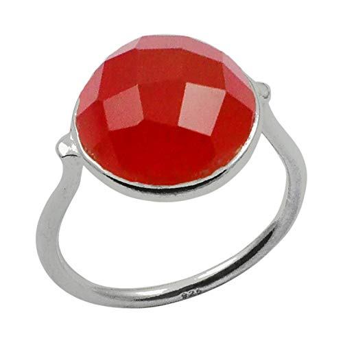 Silver Palace Handmade Carnelian Ring 925 Sterling Silver Jewelry for womens and Girls