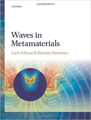 Waves in Metamaterials by Laszlo Solymar (2009-03-15)