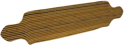 Drop Down Longboard Deck - Canadian Maple with Bamboo Inlay 9.75 x 41.5