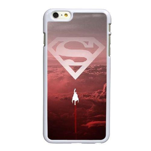 E8O14 Superman E6V7MW coque iPhone 6 4.7 pouces Cas de couverture de téléphone portable coque blanche XE3OGW1GW