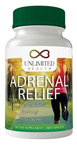 Best Adrenal Fatigue Support Supplement Gluten Free – Reduces Stress, Anxiety, & Exhaustion – Magnesium for Sleep – Vitamin C, B-6. B-12, & Ashwagandha – Adrenal Relief – FREE eBook included For Sale