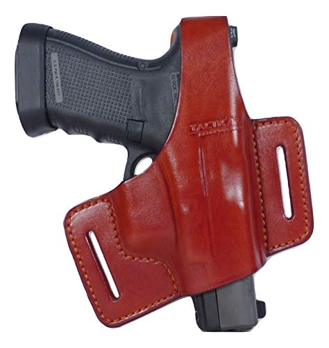 Tactical Scorpion Gear Universal 1911 2 Slot Brown Leather Thumb Break Holster