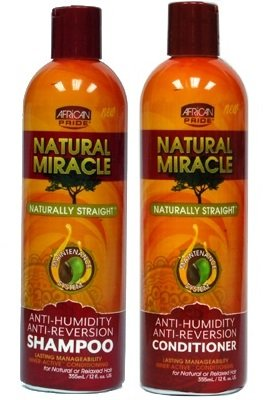 African Pride Natural Miracle Anti-Reversion Shampoo 12oz & Conditioner 12oz
