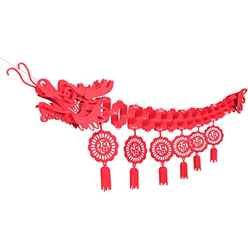 Holidayplay Chinese New Year Dragon Ceiling Decorations, 2019 Chinese New Year Decor Party Favors Party Supplies Lunar New Year Decorations for Shops, Restaurant, Party, Home, Chinatown ()