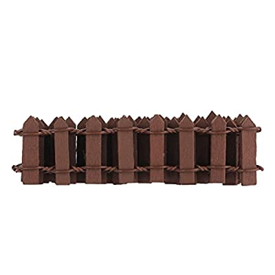 Refaxi Courtyard Wooden Piling Fence Touch of Nature Mini Garden Fence Brown
