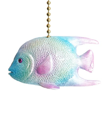 - Clementine Design Tropical Ocean Reef Angel Fish Ceiling Fan Pull