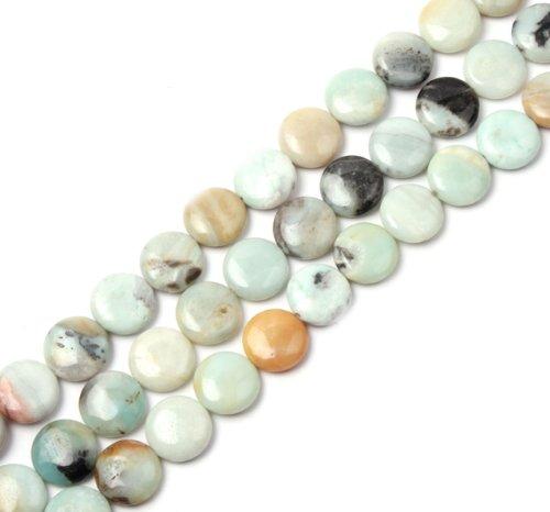 20mm Coin Amazonite Gemstone Beads Strand 15 Inches Jewelry Making Beads