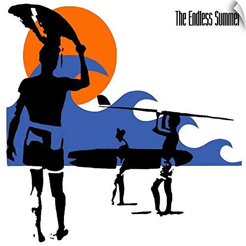 CANVAS ON DEMAND Endless Summer Surfer Wall Peel Art Print, 10
