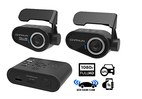 Car DVR Dash Cam with Body Storage System HD 2 Channel/Body Buried/WiFi Connect / 121˚ Wide Angle View/GPS / 3-axis G-Sensor/Heat protection 16GB SD Card included