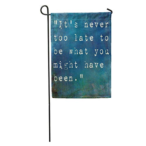 Semtomn Garden Flag Colorful Life Inspirational Quote by George Eliot on Earthy Blue Home Yard House Decor Barnner Outdoor Stand 12x18 Inches Flag