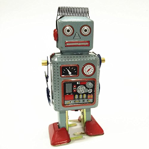 Classic Robot Wind Up Tin Toy (Classic Wind Robot Up)