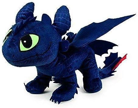 Dragons TOOTHLESS Dark Fury PELUCHE Felpa Grande 60cm ...