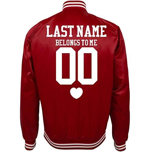 Custom Sports Girl Belongs to: Unisex Nylon Bomber Baseball Jacket -