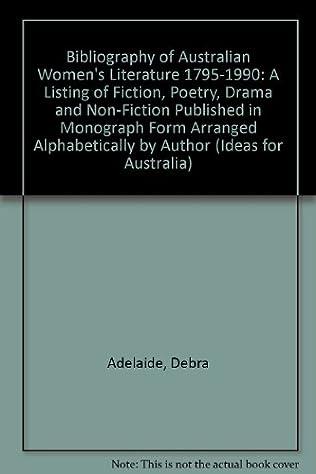 book cover of Bibliography of Australian Women\'s Literature 1795-1990