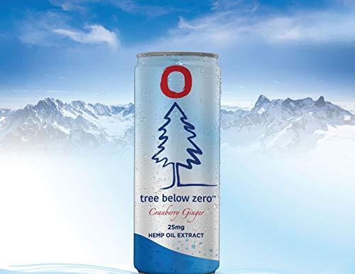 41n0Jj9Vh6L - Tree Below Zero Sparkling Juice Flavored Hemp Infused Soda, Full Case of 12 12oz cans (Cranberry Ginger)
