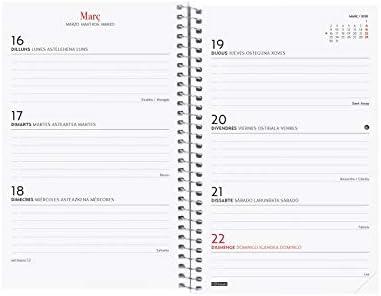 Finocam - Agenda 2020 semana vista apaisada Espiral Design Collection Elegant catalán