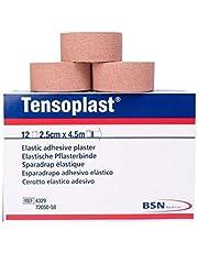 BSN Tensoplast Elastic Adhesive Tape, Tan, 2.5cm x 4.5m, Pack of 12