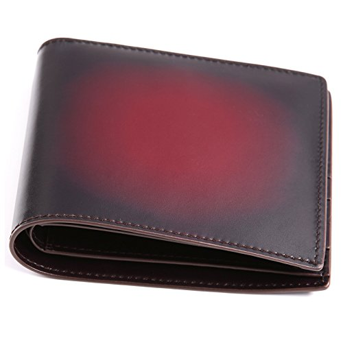 For Wallet Slim with Leather Italy Holder Card Terse Money Claret Men Wallet Clip Bifold Credit wYCATYZq